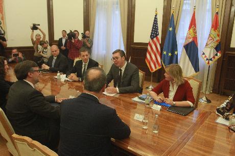 Aleksandar Vučić i Metju Palmer, Foto: Beta/Milos Miskov