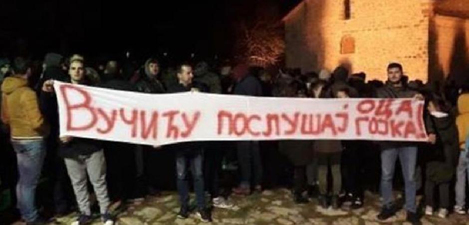 Poruka Beranaca Vučiću, Foto: Vijesti.me
