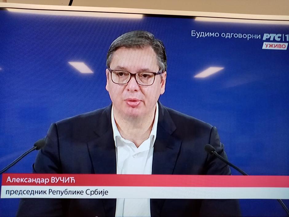 Aleksandar Vučić, Printscreen