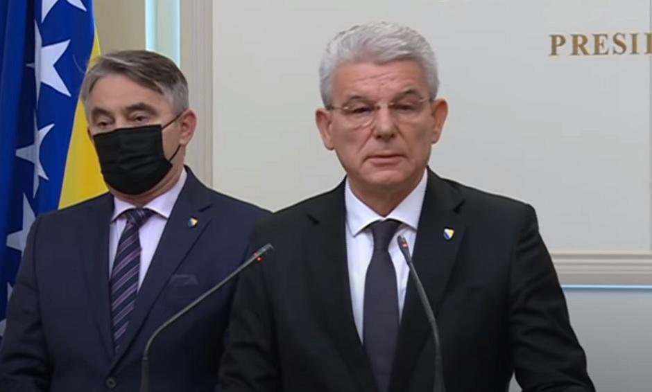 Željko Komšić i Šefik Džaferović; FOTO: Printscreen
