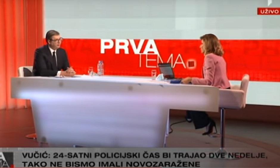 Vučić i Jovana u emisiji na TV Prva FOTO: Printscreen
