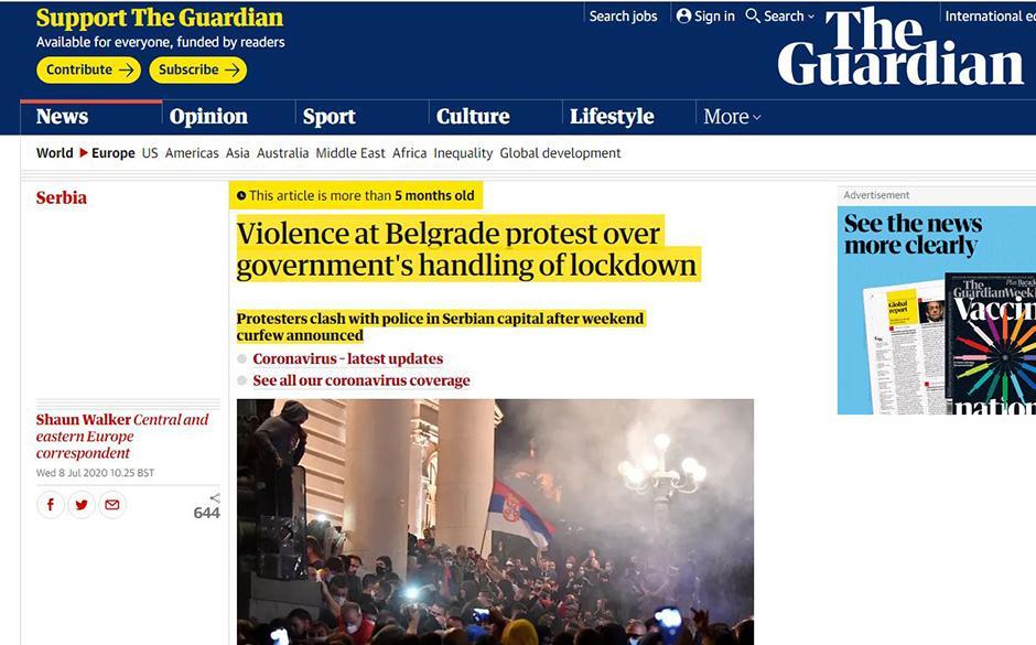 The Guardian o režimu FOTO: Printscreen