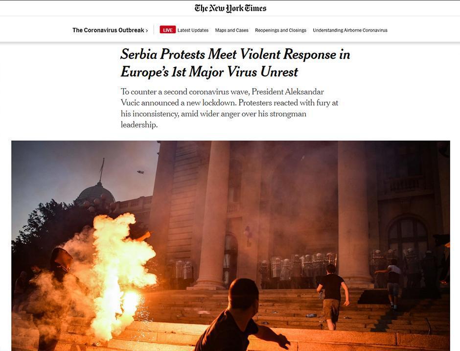 The New York Times FOTO: Printscreen