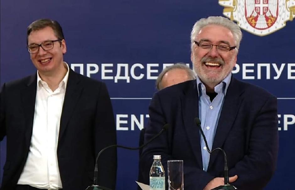Aleksandar Vučić i Branimir Nestorović su se najpre smejali koronavirusu FOTO: Beta