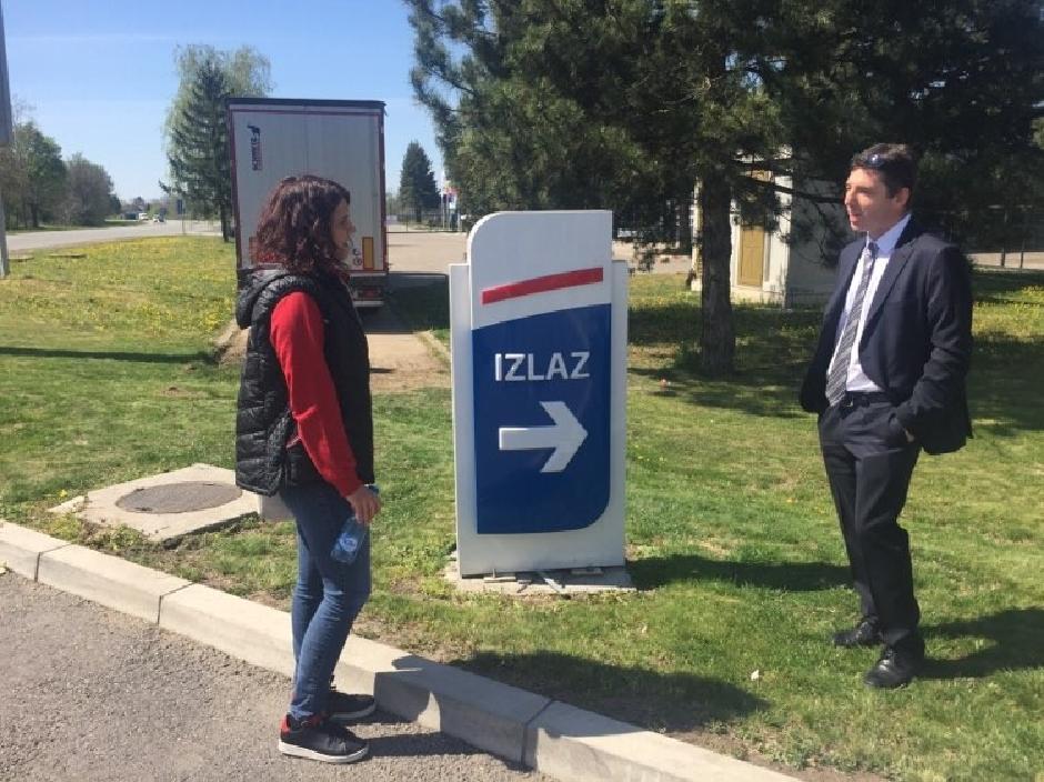 Sa advokatom Nikolom Šijanom, foto: Direktno.rs
