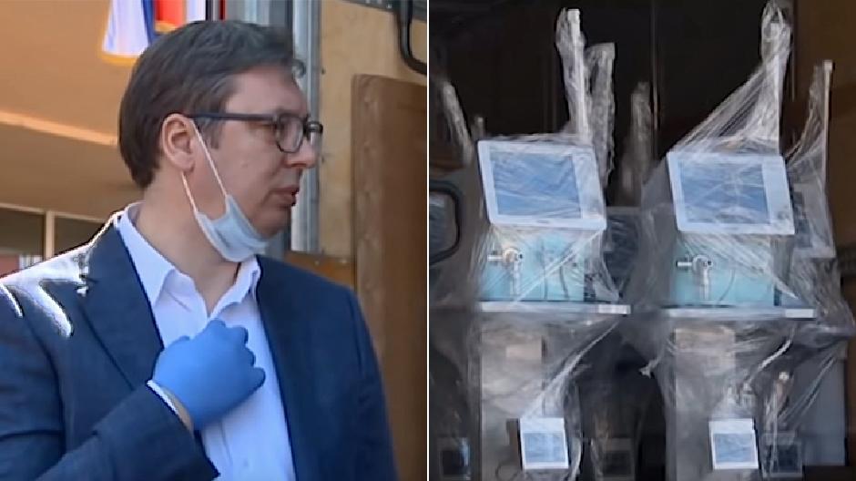 Vučić raznosio respiratore po Srbiji, Foto: Privatna arhiva