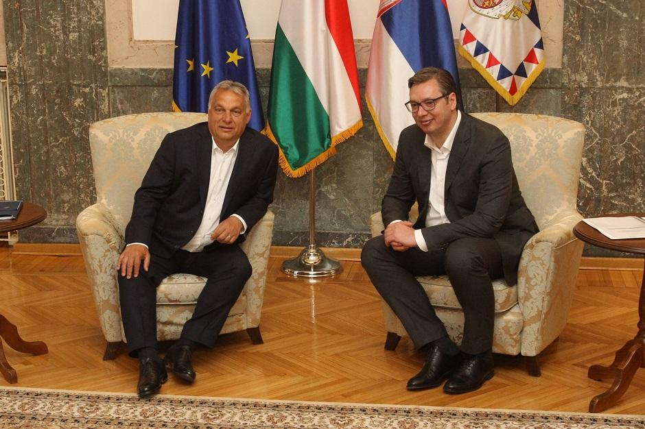Aleksandar Vučić i Viktor Orban, Foto: Beta