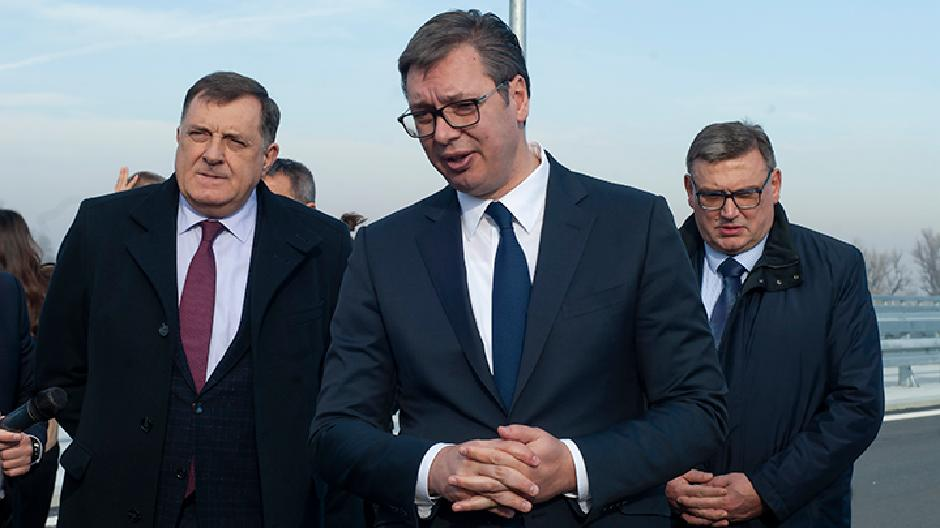 Aleksandar Vučić i Milorad Dodik, FOTO: Milica Vučković