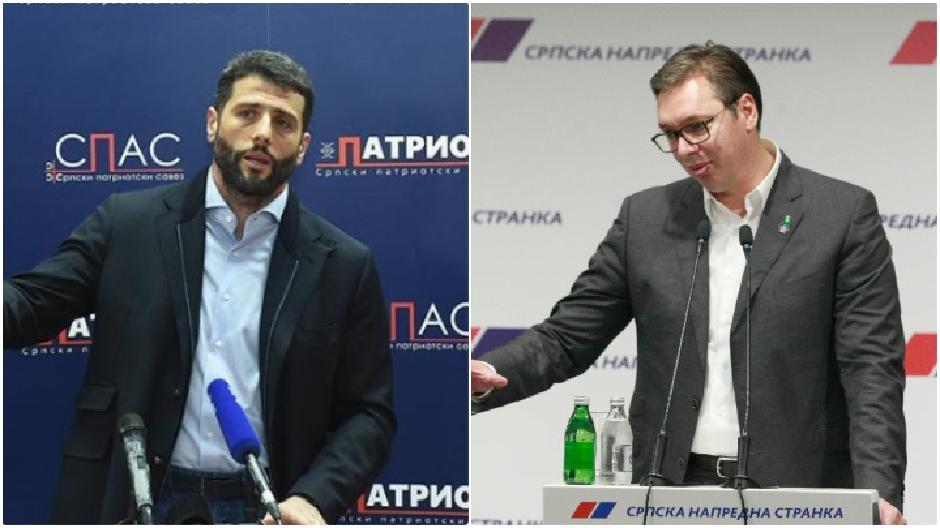Šapić i Vučić na istom putu FOTO: Printscreen/Direktno