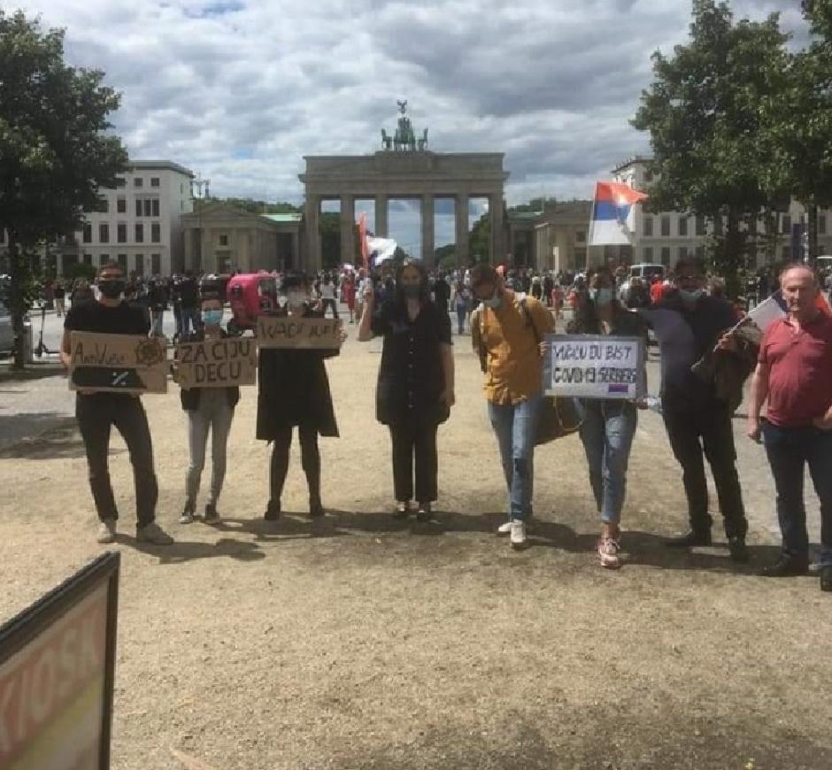 Protest u Berlinu, FOTO: Privatna arhiva