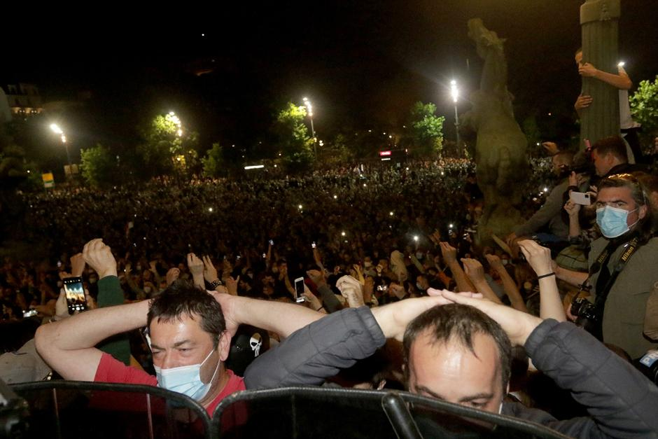 Protesti u julu prošle godine, FOTO: ATA Images