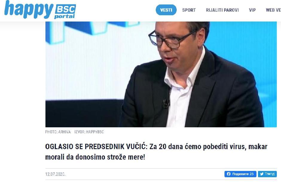 Pa na još jednom mediju čiji je Vučić glavni urednik