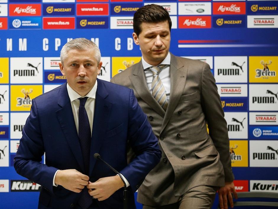 Slaviša Kokeza i Marko Pantelić (FSS) FOTO: Starsport