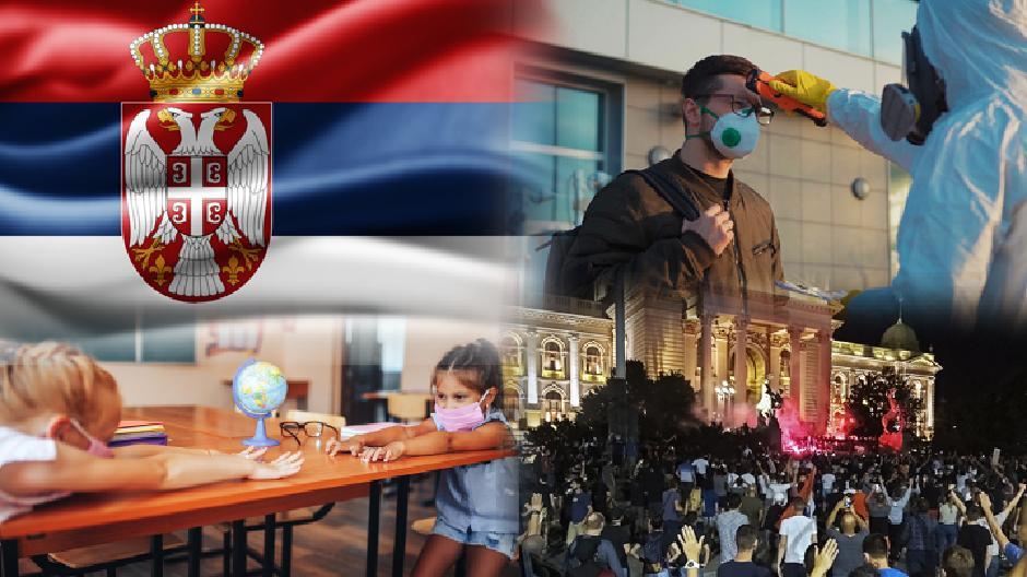Srbija, korona