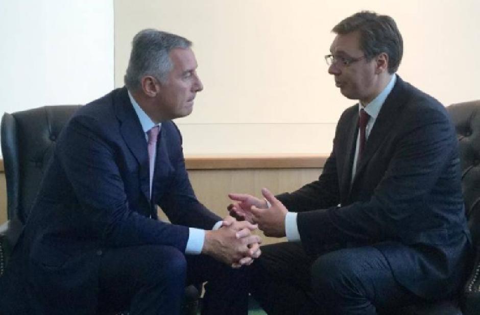 Milo Đukanović i Aleksandar Vučić