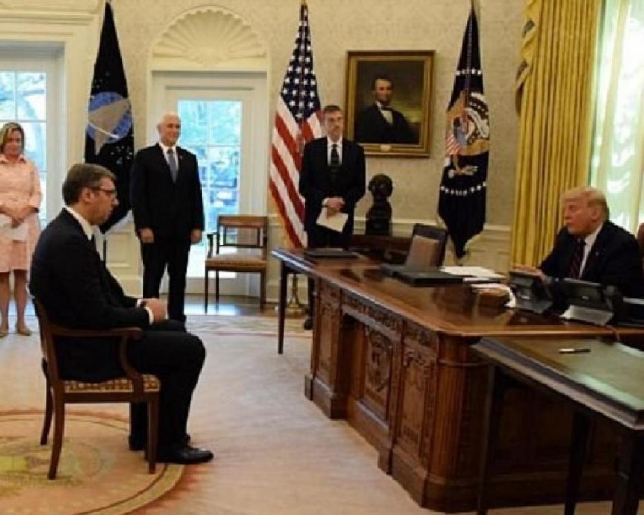 Vučić u Beloj kući sa Trampom, FOTO: Printscreen