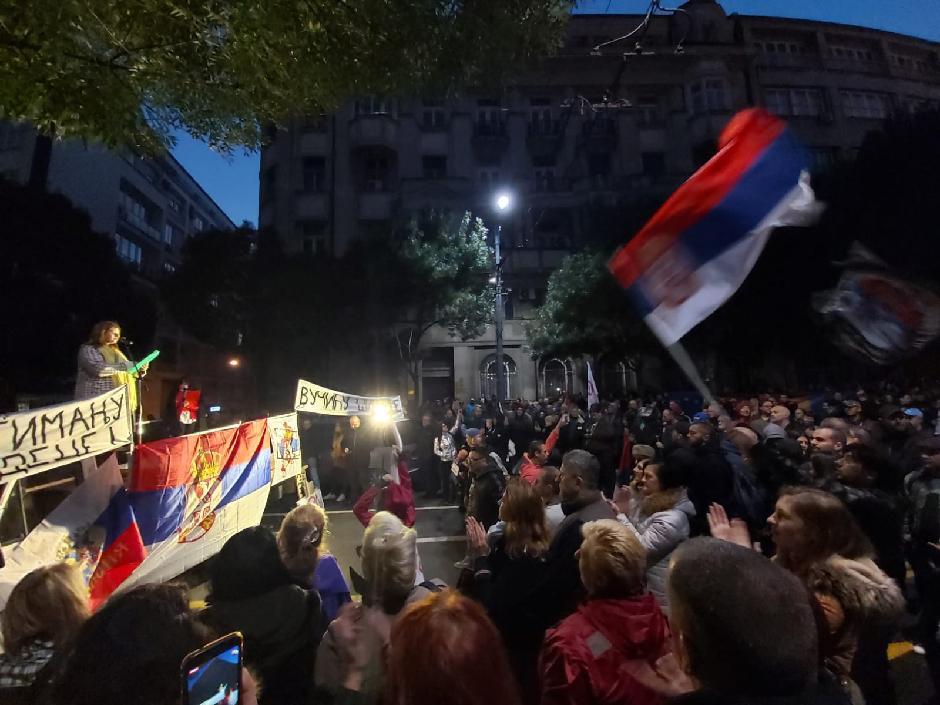 Protest ispred Predsedništva FOTO: Milica Vučković