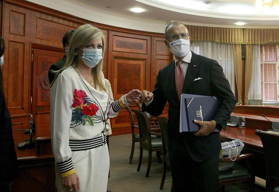 Jadranka Joksimović i Sem Fabrici FOTO: ATA images