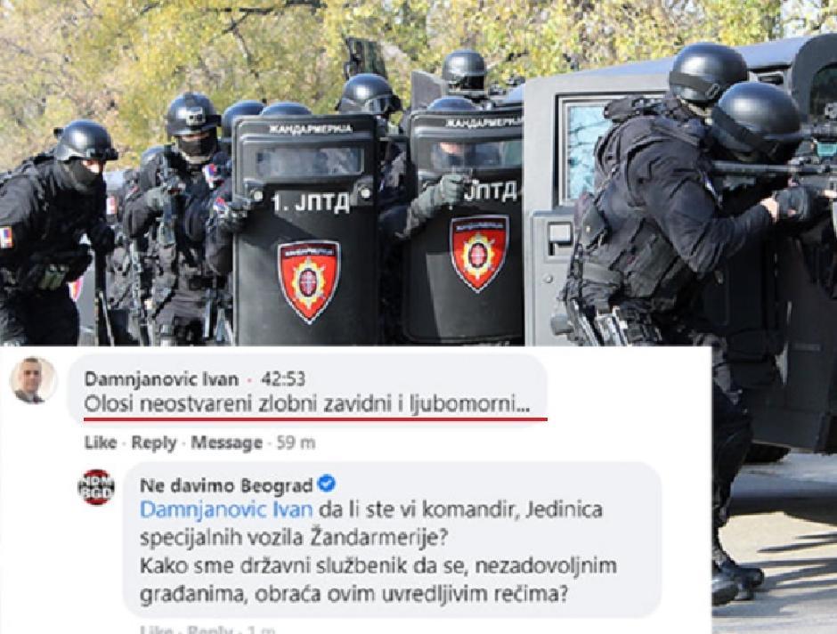 Damnjanović nazvao ološem ljude koji su protestovali protiv zagađenja vazduha u Beogradu, Printscreen/Facebook
