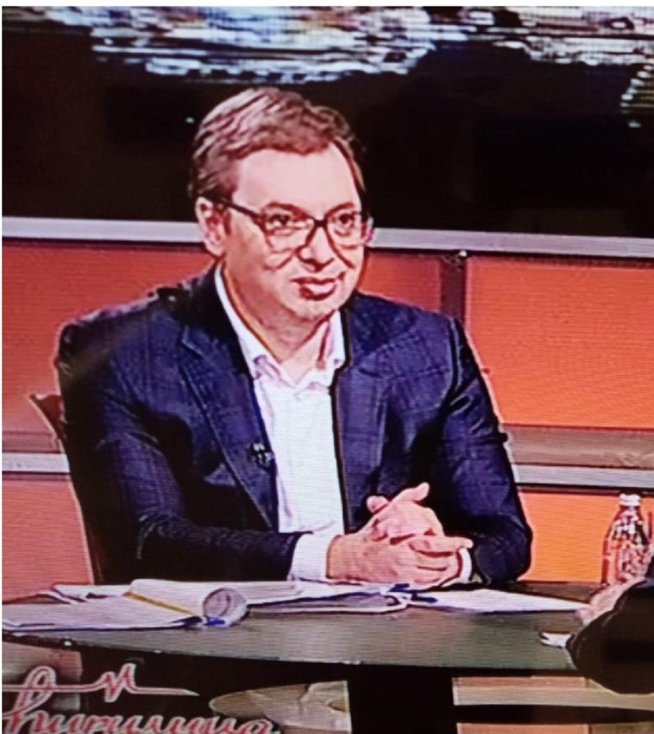 Aleksandar Vučić je gostovao na televiziji Happy FOTO: Printscreen