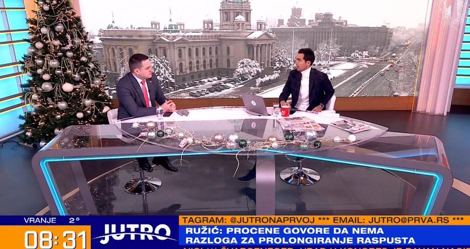 Ministar prosvete Branko Ružić FOTO: Printscreen