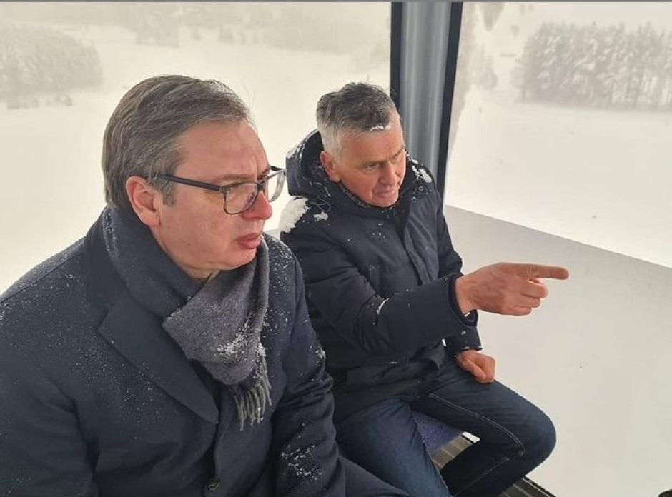 Aleksandar Vučić i Milan Stamatović na Zlatiboru FOTO: Printscreen/Instagram