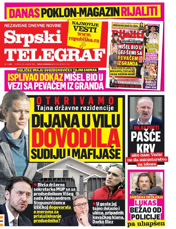Srpski telegraf FOTO: Printscreen