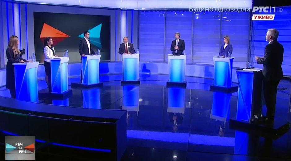 Debata na RTS-u FOTO: Printscreen