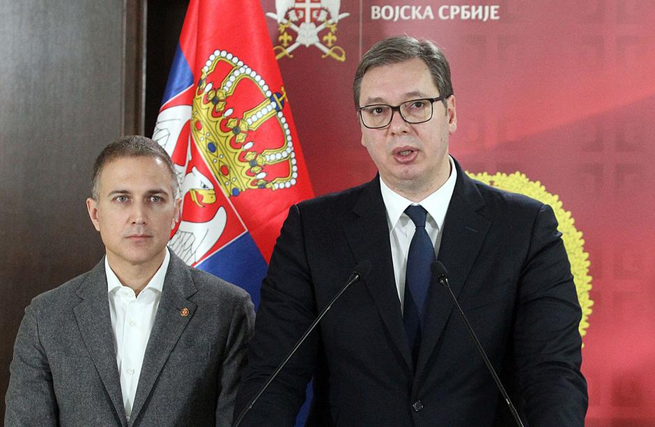 Nebojša Stefanović i Aleksandar Vučić FOTO: ATA Images