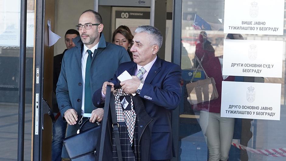 Dragoljub Simonović izlazi iz suda FOTO: ATA images