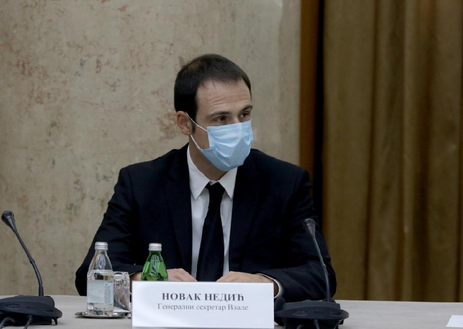 Novak Nedić, generalni sekretar Vlade FOTO: ATA images vucic