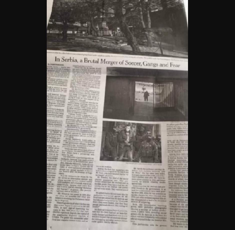Njujork tajms FOTO: Printscreen
