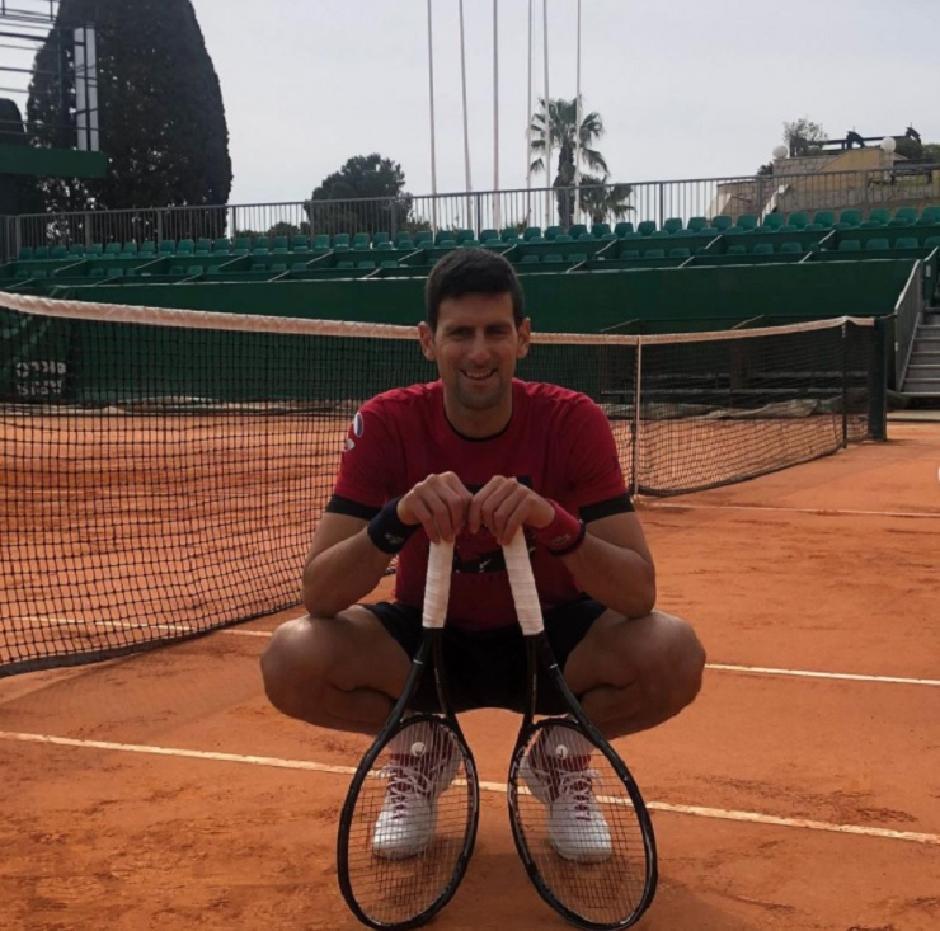 Novak Đoković se već priprema za sezonu na šljaci FOTO: Printscreen