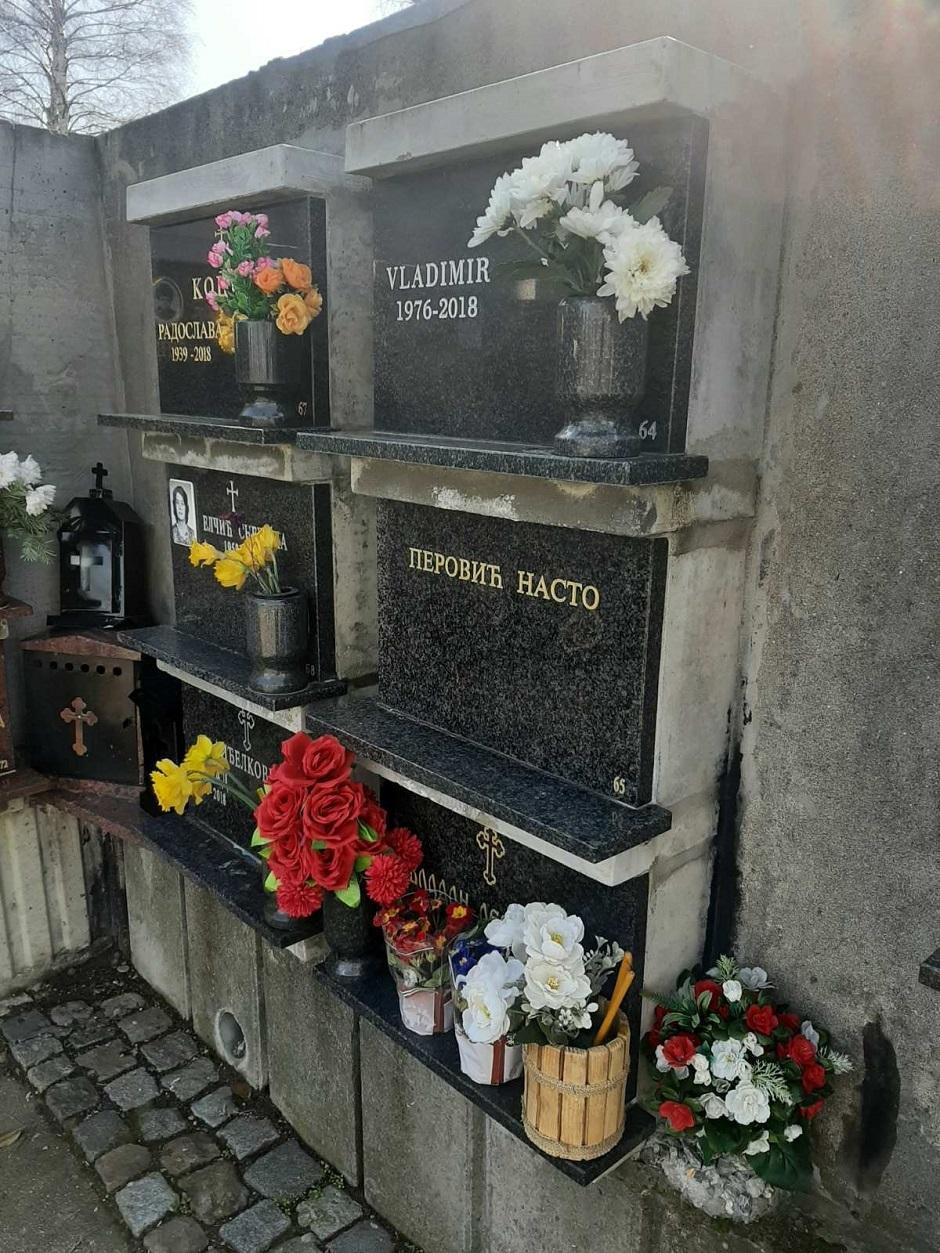 Cvijanov grob obeležen samo imenom FOTO: Privatna arhiva