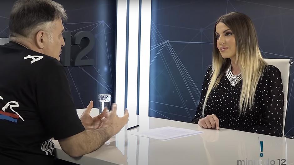 Branislav Lečić u emisiji FOTO: Printscreen/Minut do 12