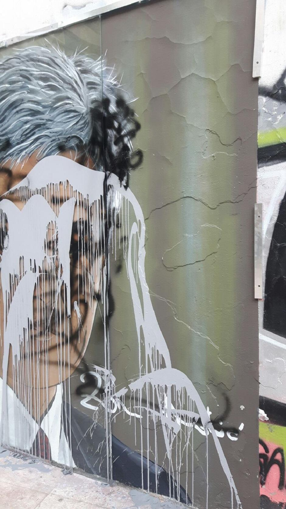 Oskrnavljen mural Zoranu Đinđiću