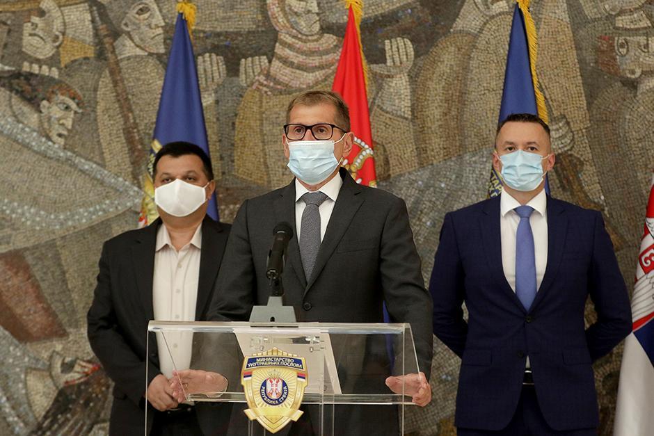 Milan Stanić, Vladimir Rebić i Slobodan Malešić FOTO: ATA images