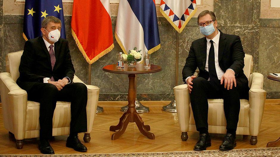 Aleksandar Vučić i Andrej Babiš Foto: ATA images
