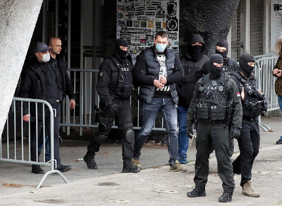 Policija i Velja Nevolja na stadionu Partizana FOTO: Starsport