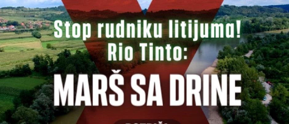 Stop rudniku litijuma! Rio Tinto: Marš sa Drine