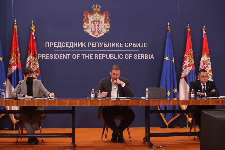 KZN Aleksandra Vučića nakon sednice Saveta za nacionalnu bezbednost