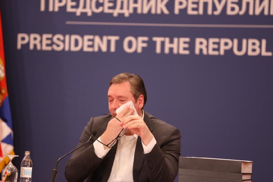 Aleksandar Vučić i umivanje uživo FOTO: ATA Images