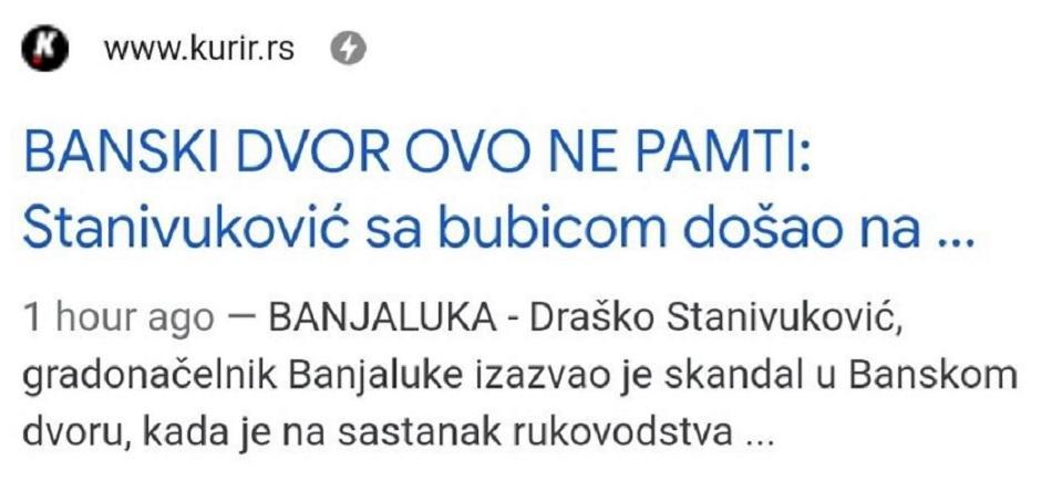 Stanivuković došao na sastanak sa bubicom FOTO: Printscreen