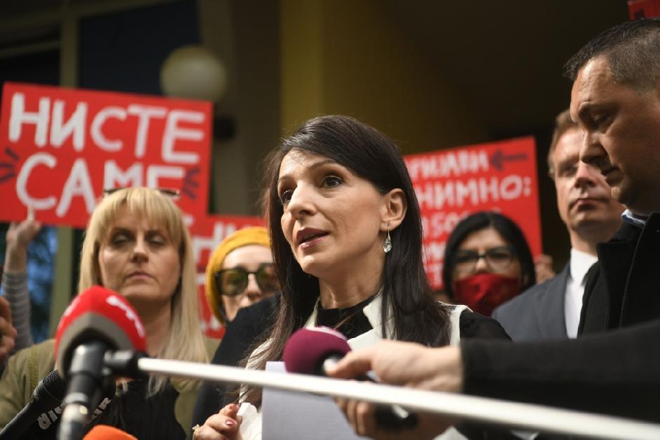 Marinika Tepić u Jagodini FOTO: ATA images