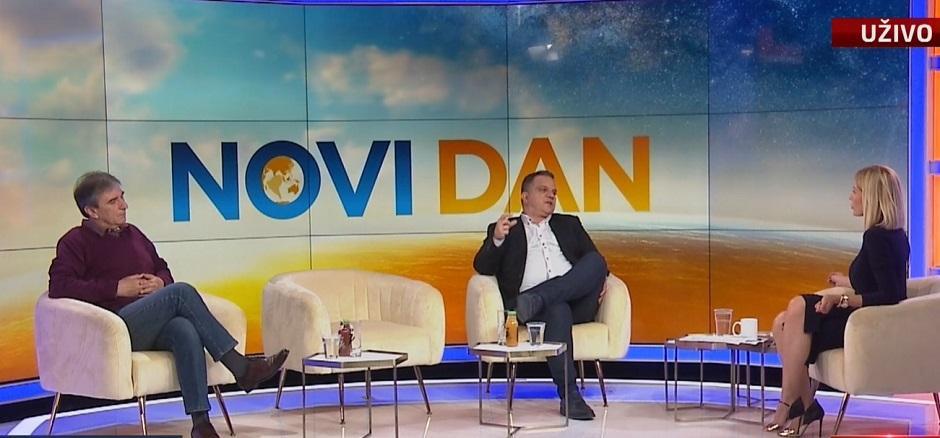 Cvijetin Milivojević i Dejan Vuk Stanković su gostovali na televiziji N1 FOTO: Printscreen