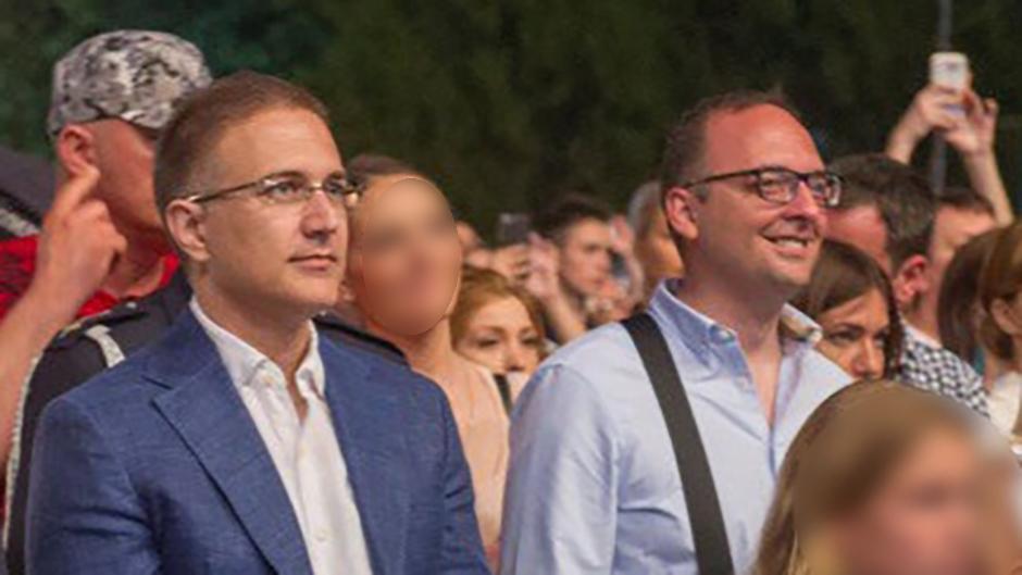 Nebojša Stefanović i Aleksandar Papić; FOTO: Twitter @NesaStefanovic