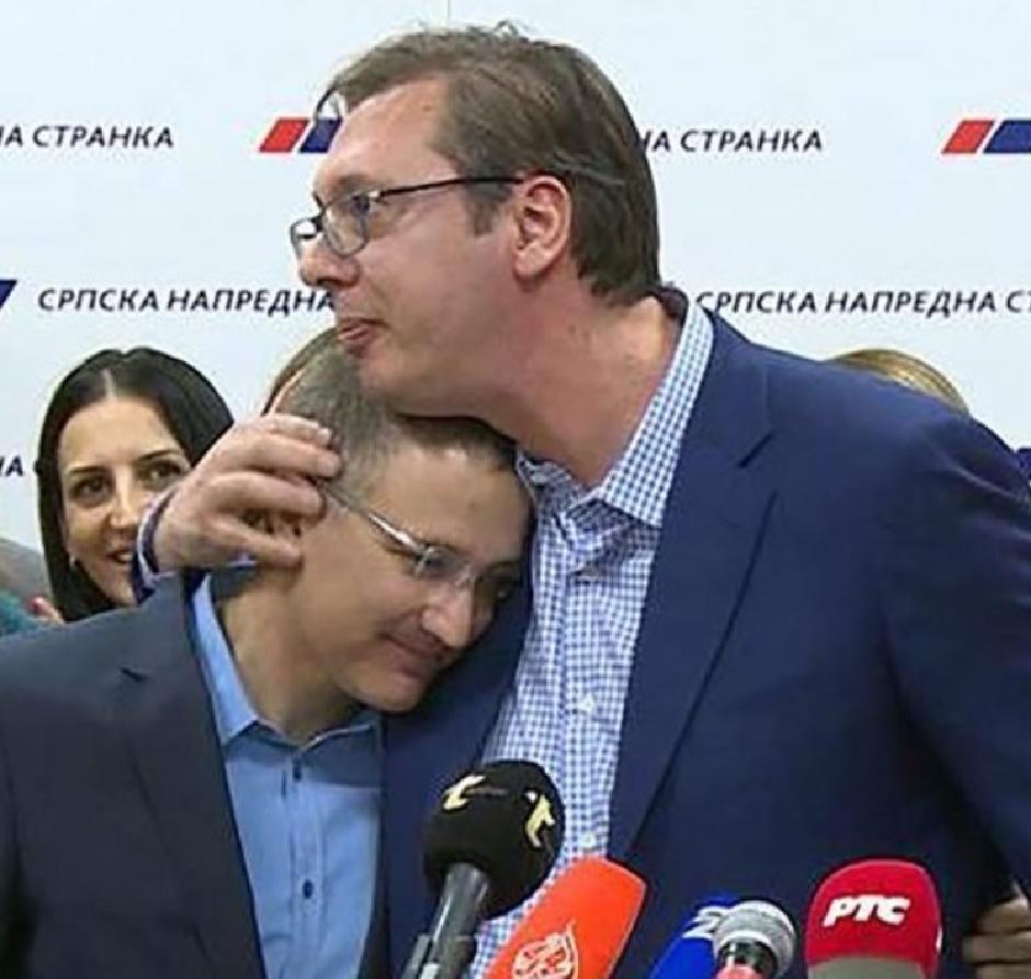 Stefanović i Vučić FOTO: Printscreen