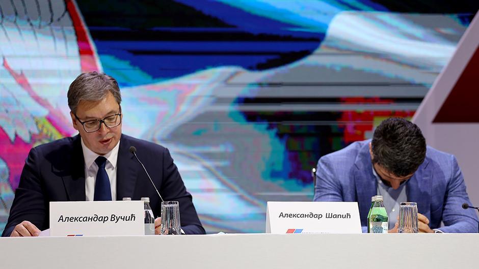 Aleksandar Vučić i Aleksandar Šapić FOTO: ATA images