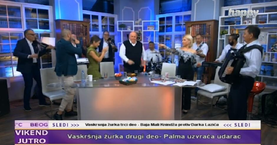 Vaskršnja žurka Dragana Markovića Palme FOTO: Printscreen