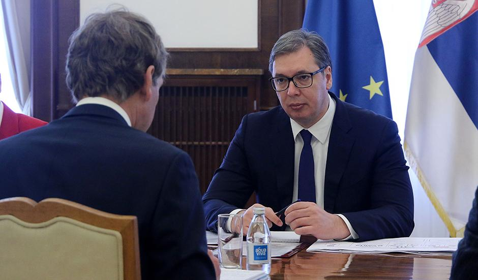 Aleksandar Vučić i delegacija kompanije Rio Tinto FOTO: ATA images